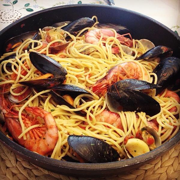 receta-tallarines-frutti-di-mare