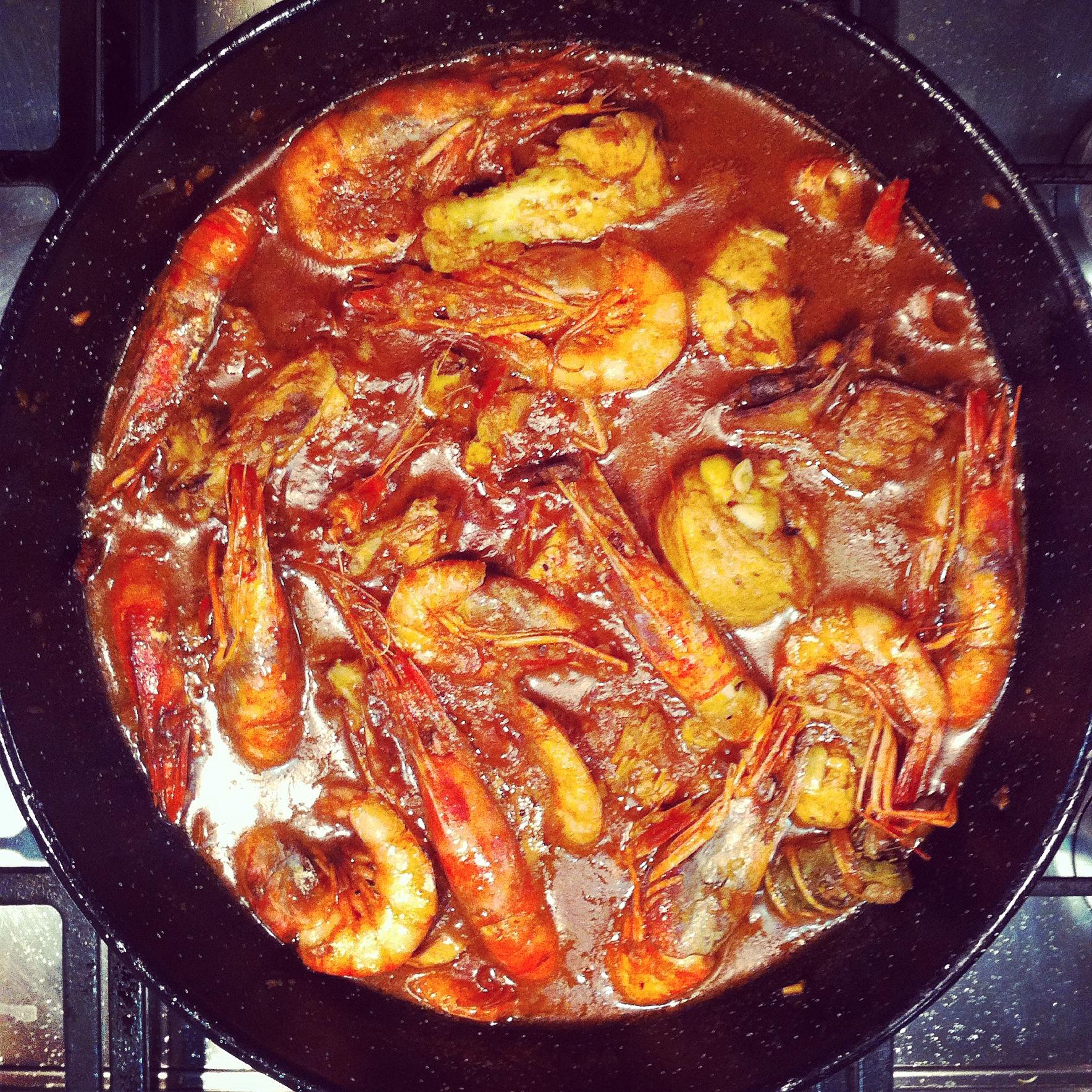 receta-pollo-con-gambas