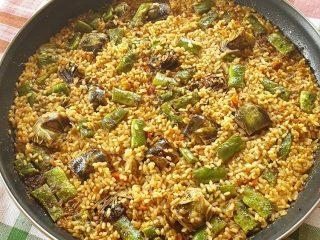 receta-arroz-de-alcachofas-y-judías-verdes